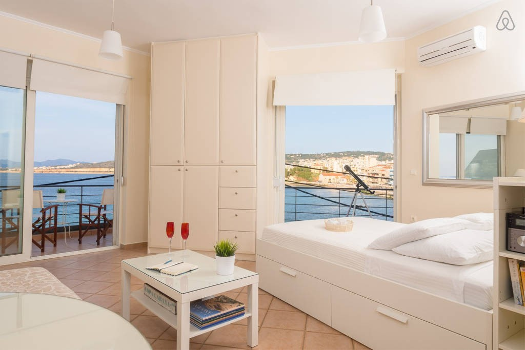 Greece Crete sea view studio apartment