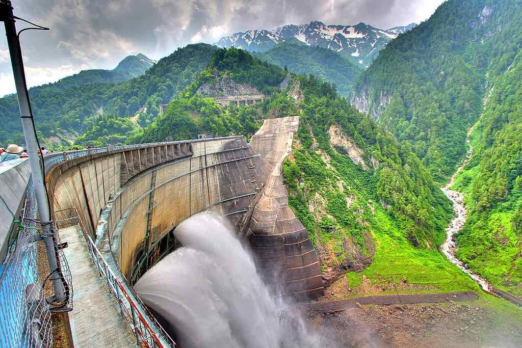 the kurobe dam the tallest dam Kurobe dam 160 likes the kurobe dam or kuroyon dam, is a variable-radius arch dam on the kurobe river in toyama prefecture, japan it supports the 335.