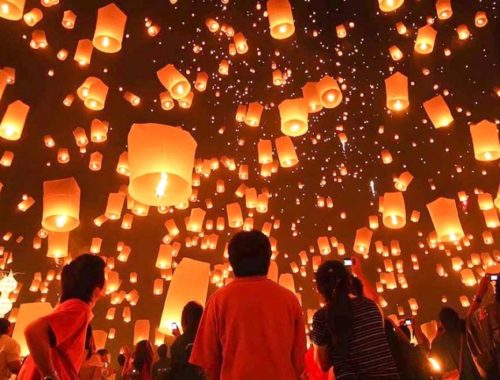 See hundreds of lanterns light up the sky at Taiwans famed Lantern Festival